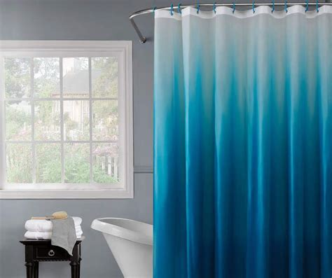 blue ombre shower curtain 1000 images about shower curtains on two