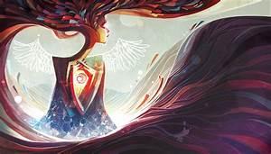 Abstract, Wings, Sun, Purple, Pink, Wallpapers, Hd, Desktop