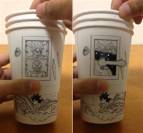 Get the best deals on coffee cups. Interactive Dragon Ball Z Scene Plays out on Coffee Cups