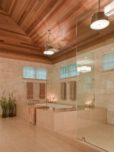 ceiling ideas for bathroom 26 beautiful wood master bathroom designs page 2 of 5