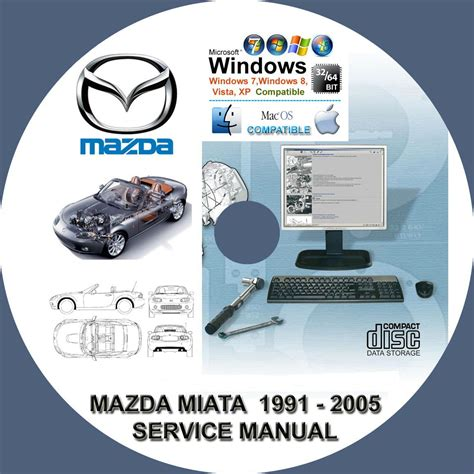 free auto repair manuals 1991 mazda mx 5 parking system mazda miata mx5 1991 2005 service repair manual on cd mx 5 www servicemanualforsale com