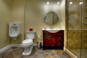 Ashburn Transitional Basement - Bathroom - Contemporary