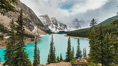 Lake Mountains Valley Banff 4k Landscape Moraine