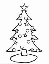 Outline Tree Christmas Coloring Blank Popular sketch template