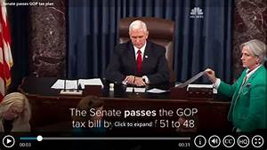 Senate Passes Tax Reform Bill, Prepares to send to ...