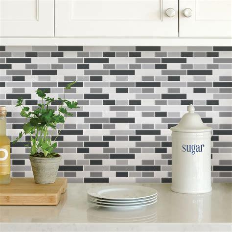 wallpops black smoked glass peel stick backsplash tiles