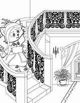 Handipoints Arcade Machine Template Coloring Pages Primarygames Cat sketch template