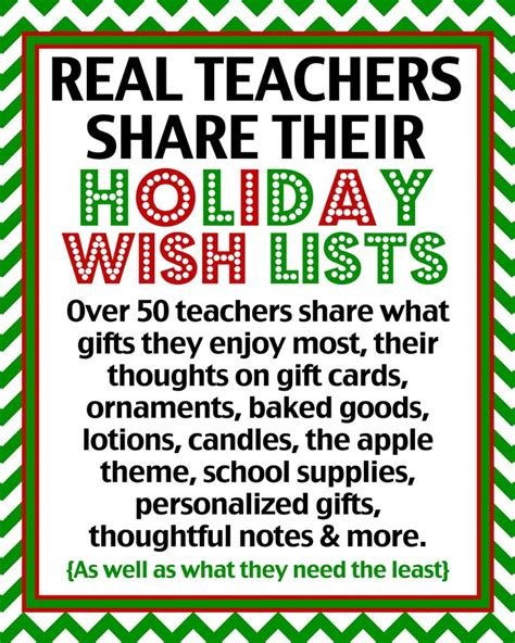 Diy Gifts Ideas  Teacher Gift Ideas  Over 50 Real Teachers Share What They Really Want