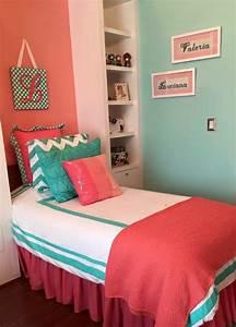 Coral Room Decor Ideas Pinterest Bed On Coral Aqua Bedroom ...