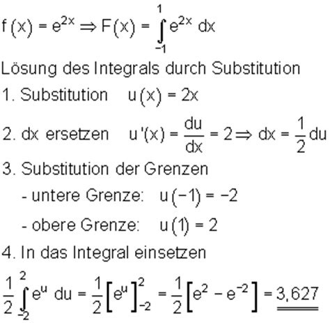 integration durch substitution mathe brinkmann