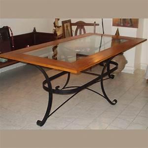 Table Bois Et Fer : table salle manger et chaises galerie arte ~ Teatrodelosmanantiales.com Idées de Décoration
