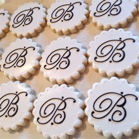 images  monogram cookies letters message