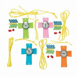 Compass Cross Necklace Craft Kit - Oriental Trading