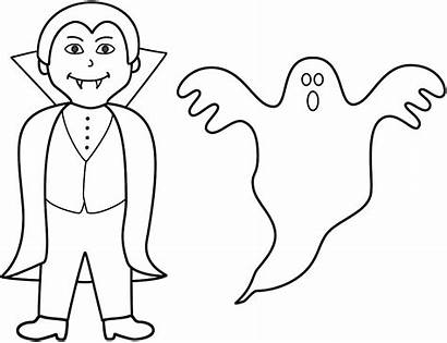 Ghost Coloring Halloween Pages Printable Vampire Ghosts