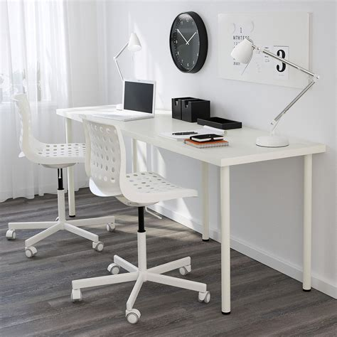 linnmon corner desk setup clean white ikea linnmon adils desk setup with laptop on