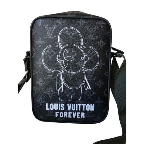 louis vuitton danube pm vivienne monogram eclipse canvas messenger bag bags briefcases linen