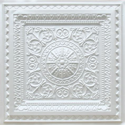 d223 pvc faux tin drop in ceiling tile 2x2 white pearl
