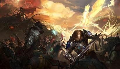 Lineage Ii Wallpapers Angel Battle L2 2050