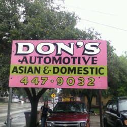 dons automotive repair  reviews auto repair