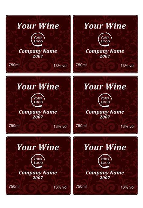 wijnlabelsjablonen personaliseer uw eigen