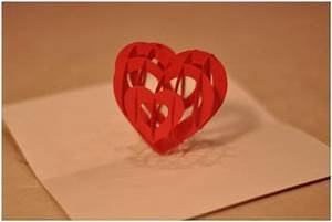 Pop-up heart card to make with instructions and template ...