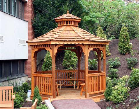 gazebo s cedar single roof octagon gazebos gazebos by
