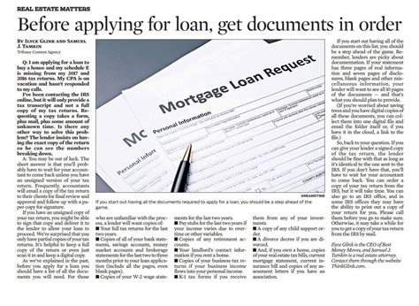 Before Applying For Loan, Get Documents In Order