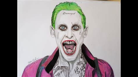 drawing  joker  suicide squad youtube
