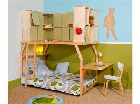 lit mezzanine combiné bureau tendance le lit mezzanine décoration