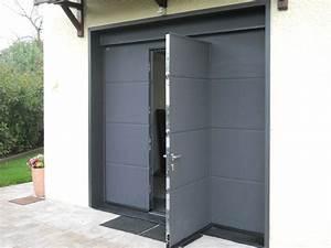 Porte de garage sectionnelle motorisee hormann a lyon for Portes garage hormann