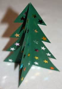 craft and activities for all ages make a 3d card christmas tree with printable template