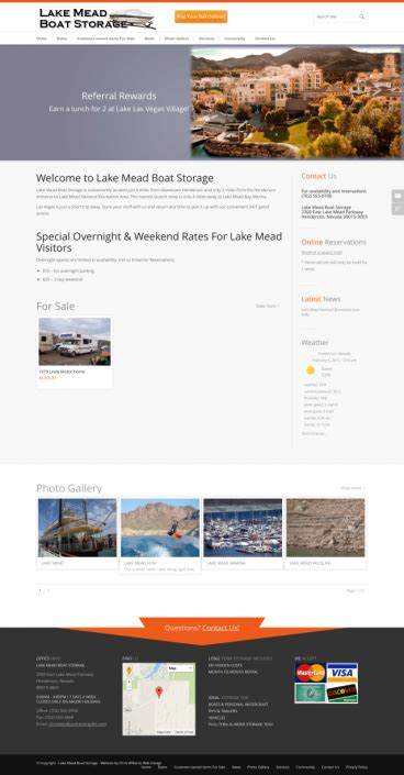 Boat Storage Henderson Nevada by Chris Williams Web Design A Professional Website Design