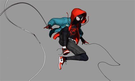 miles morales spider man   spider verse fan art