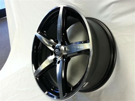 white diamond  wheel rims tires black