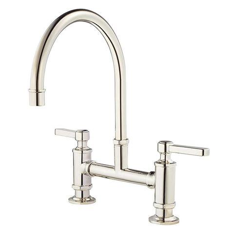 polished nickel kitchen faucets shop pfister port haven polished nickel 2 handle deck mount high arc kitchen faucet at lowes com