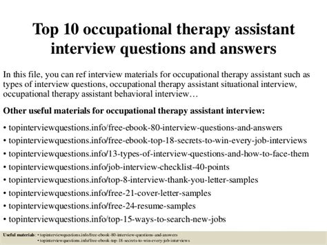 Pharmacovigilance Officer Resume by Top 10 Occupational Therapy Assistant Questions And Answers