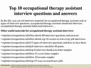Top 10 occupational therapy assistant interview questions ...