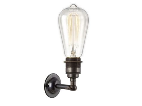 period wall light dark bronze e27 bulb holder