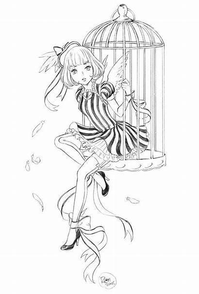 Coloring Pages Manga Deviantart Lolita Canary Anime