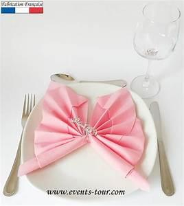 Pliage De Serviette Papillon : pliage de serviette papillon rose x1 ref 10055 ~ Melissatoandfro.com Idées de Décoration