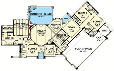 european house plans plan 36438tx european house plan with outdoor lounge