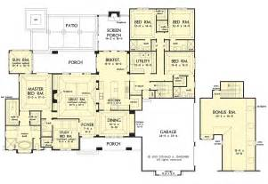 Ranch House Plans with 5 Bedrooms