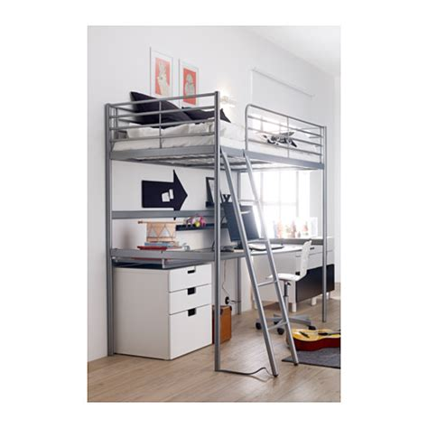 Loft Bed Ikea by Sv 196 Rta Loft Bed Frame Silver Colour 90x200 Cm Ikea
