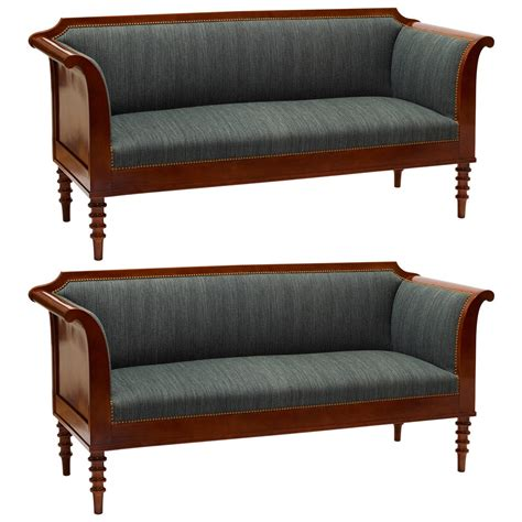 antique settees for sale spectacular pair of neo antique settees in mahogany