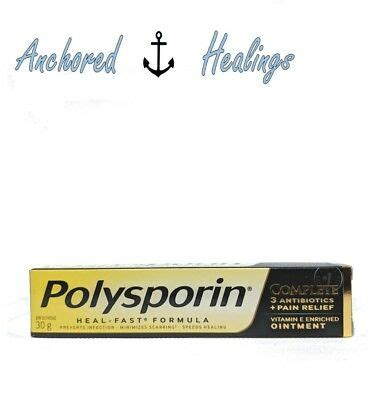 polysporin complete heal fast ointment pain relief vitamin