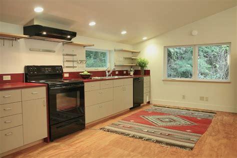 mirror kitchen backsplash terrabella garage apartment contemporary kitchen 4153