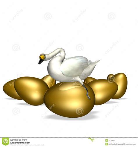 goose sitting  golden egg royalty  stock
