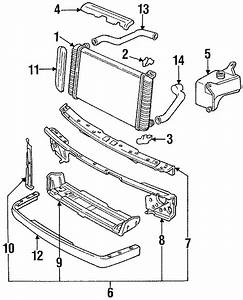 Cadillac Deville Panel  Radiator Support   Front  Upper