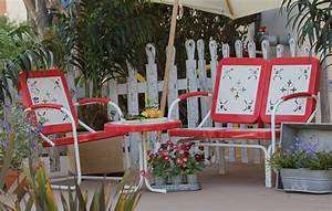 Summerland Vintage Patio Furniture-Tomato Town & Country