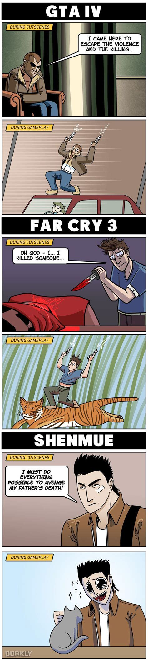 Video Game Logic Memes - the 3 videogames with the weirdest protagonist disparity videogames gaming and video games